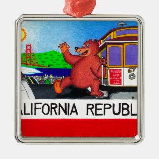 Adorno Metálico Bandera del oso de San Francisco California