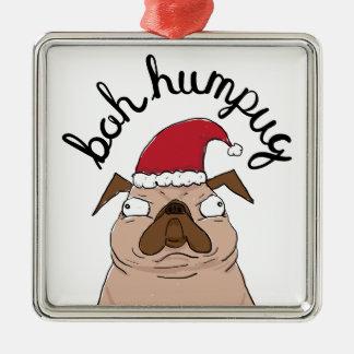 Adorno Metálico Barro amasado de Santa del navidad de Bah Humpug