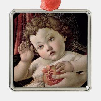 Adorno Metálico Bebé Jesús que sostiene la granada