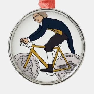 Adorno Metálico Bici del montar a caballo de Thomas Jefferson con