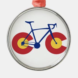 Adorno Metálico Bicicleta de la bandera de Colorado