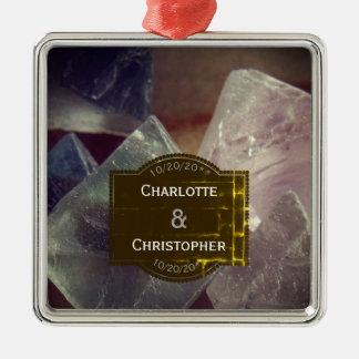 Adorno Metálico Boda personalizado piedra preciosa del fluorito
