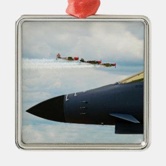 Adorno Metálico Bombardero B-1 y combatientes de WWII