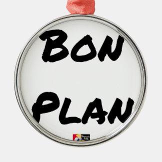 Adorno Metálico BUEN PLAN - Juegos de palabras - Francois Ville