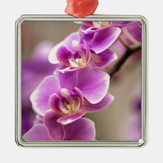 Adorno Metálico Cadena de flor de color rosa oscuro de la orquídea