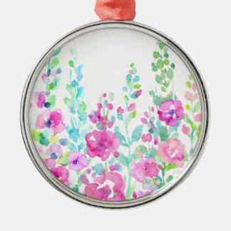 Adorno Metálico Cama floral abstracta de la acuarela