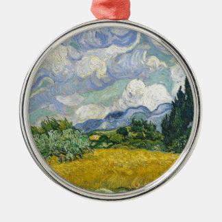 Adorno Metálico Campo de trigo de Van Gogh con los cipreses