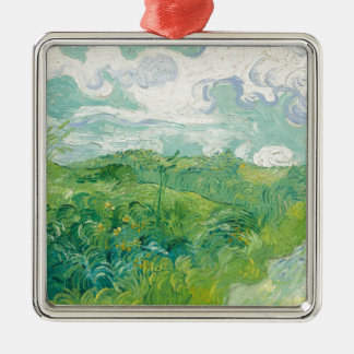 Adorno Metálico campos de trigo verdes de Van Gogh