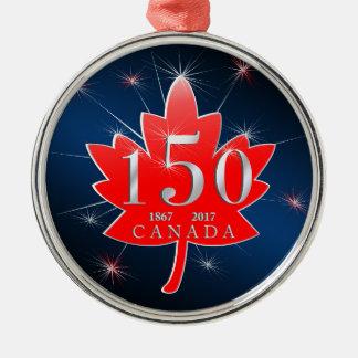 Adorno Metálico Canadá hoja de arce de la celebración de 150