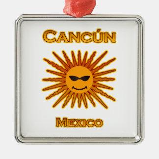 Adorno Metálico Cancun México Sun hace frente al icono