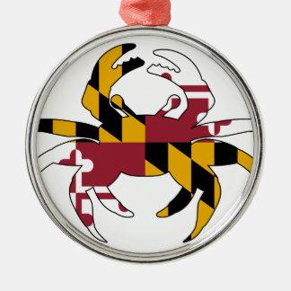 Adorno Metálico Cangrejo de la bandera de Maryland