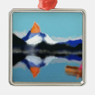 Adorno Metálico Canotaje por arte de las montañas