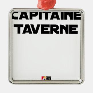 Adorno Metálico CAPITÁN TABERNA - Juegos de palabras - Francois