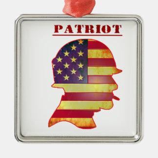 Adorno Metálico Casco patriótico de los militares de la bandera
