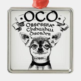 Adorno Metálico Chihuahua obsesiva de OCD