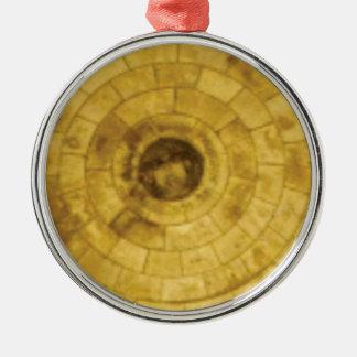 Adorno Metálico círculos de piedra amarillos