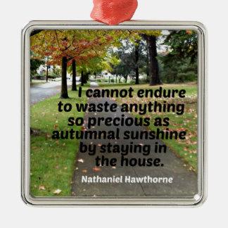 Adorno Metálico Cita de Hawthorne: No puedo aguantar para perder