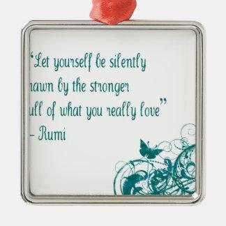 Adorno Metálico Cita del amor de Rumi