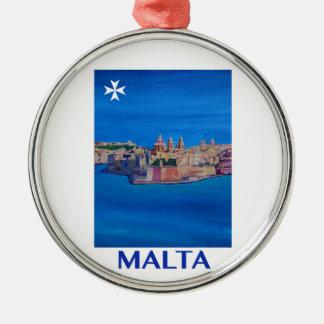 Adorno Metálico Ciudad RETRA de Malta La Valeta del POSTER de
