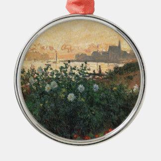 Adorno Metálico Claude Monet - Riverbank florecido Argenteuil