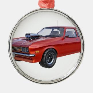 Adorno Metálico coche del músculo de los años 70 en rojo