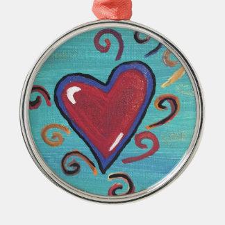 Adorno Metálico Colección roja de los corazones