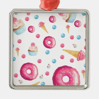 Adorno Metálico Collage rosado del buñuelo