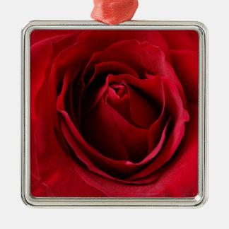 Adorno Metálico color de rosa de color rojo oscuro