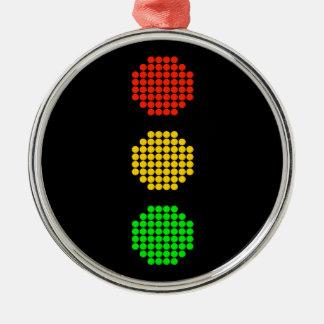 Adorno Metálico Colores de la luz de parada del punto