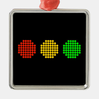Adorno Metálico Colores horizontales de la luz de parada del punto
