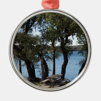 Adorno Metálico Comida campestre en el lago