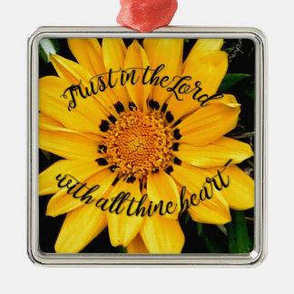 Adorno Metálico Confianza en el señor Bright Yellow Flower