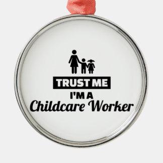 Adorno Metálico Confíe en que yo es trabajador del cuidado de