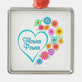 Adorno Metálico Corazón del flower power