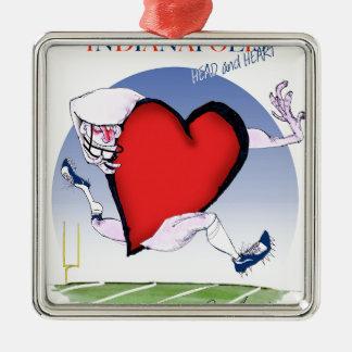 Adorno Metálico corazón principal de Indianapolis, fernandes tony