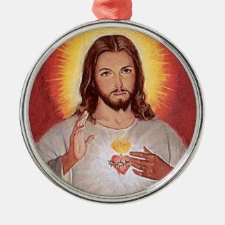 Adorno Metálico Corazón sagrado de Jesús