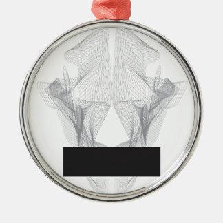 Adorno Metálico Cráneo abstracto del oso