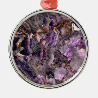 Adorno Metálico cuarzo púrpura