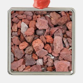 Adorno Metálico Cubierta de tierra roja de las rocas volcánicas