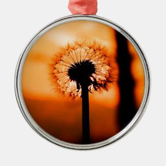 Adorno Metálico Dandelion Flower (Diente de León)