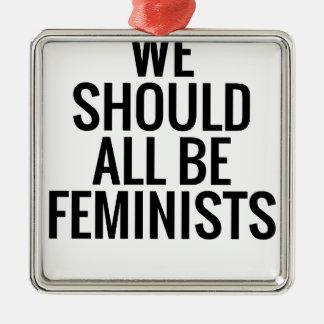 ADORNO METÁLICO DEBEMOS TODOS SER FEMINISTAS