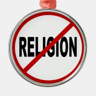 Adorno Metálico Declaración permitida religión de la muestra de
