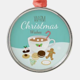 Adorno Metálico Día de fiesta de las galletas del navidad y del