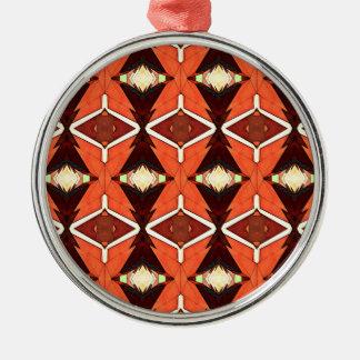 Adorno Metálico Diamantes anaranjados
