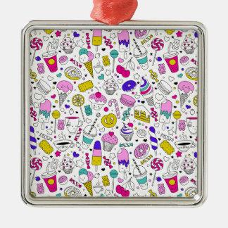 Adorno Metálico Dibujo animado dulce del bosquejo de la diversión
