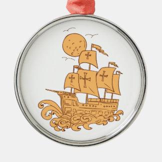 Adorno Metálico Dibujo de la luna del velero de Caravel