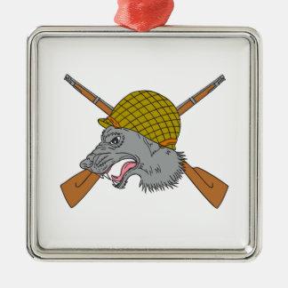 Adorno Metálico Dibujo del casco de la guerra mundial de la cabeza