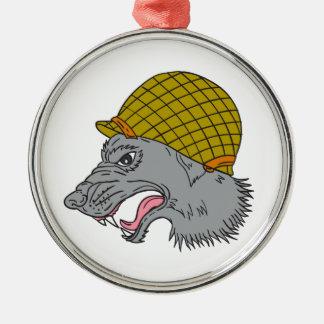 Adorno Metálico Dibujo principal del casco WW2 el gruñir del lobo