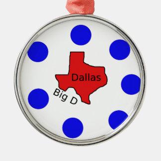 Adorno Metálico Diseño de la ciudad de Dallas, Tejas (D) grande