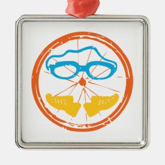 Adorno Metálico Diseño de la diversión del Triathlon